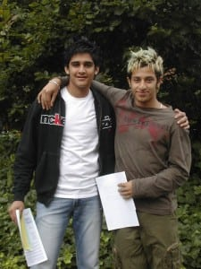 GCSE students 2004 (between them they gained 20 passes at grades A star - C) (2005)