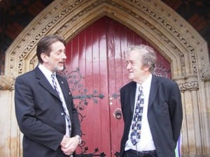 Professor Tim Brighouse visiting with David Peck (2005)